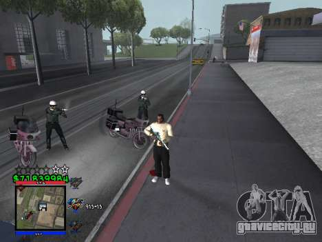 C-HUD by Santi для GTA San Andreas второй скриншот