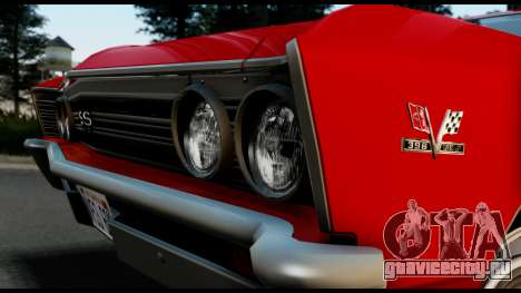 Chevrolet Chevelle SS 396 L78 Hardtop Coupe 1967 для GTA San Andreas вид справа