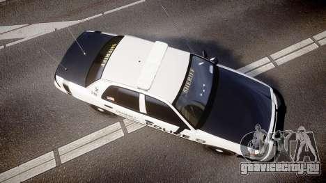 Ford Crown Victoria Sheriff Dukes [ELS] для GTA 4 вид справа