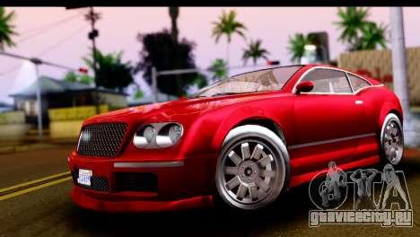 GTA 5 Enus Cognoscenti Cabrio IVF для GTA San Andreas вид справа