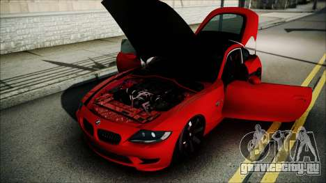 BMW Z4 M85 для GTA San Andreas вид изнутри