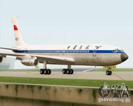 Boeing 707-300 CAAC для GTA San Andreas вид сзади