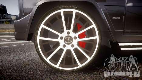 Mercedes-Benz G65 Brabus rims2 для GTA 4 вид сзади