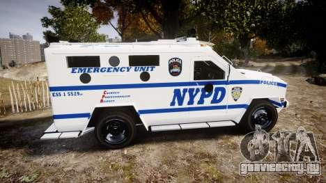 Lenco BearCat NYPD ESU [ELS] для GTA 4 вид слева