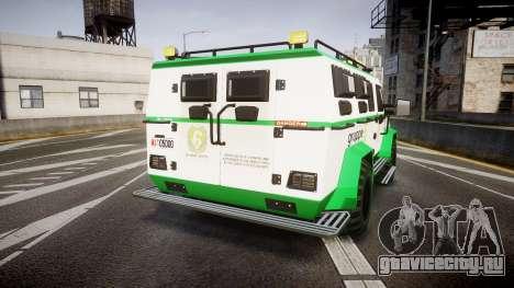 Gruppe6 Van [ELS] для GTA 4 вид сзади слева