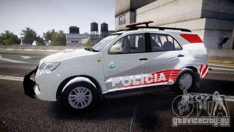 Toyota Hilux SW4 2014 Ronda PMCE [ELS] для GTA 4 вид слева