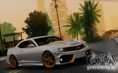 Chevrolet Camaro VR (IVF) для GTA San Andreas вид изнутри