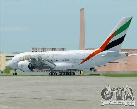 Airbus A380-800 Emirates (A6-EDH) для GTA San Andreas вид сзади слева