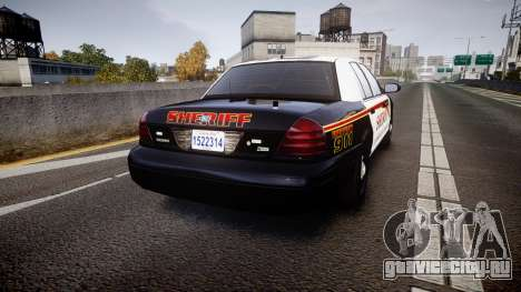 Ford Crown Victoria Sheriff [ELS] rims1 для GTA 4 вид сзади слева