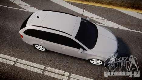 Skoda Octavia Combi vRS 2014 [ELS] Unmarked для GTA 4 вид справа