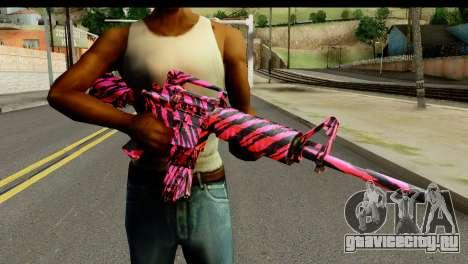 Red Tiger M4 для GTA San Andreas третий скриншот