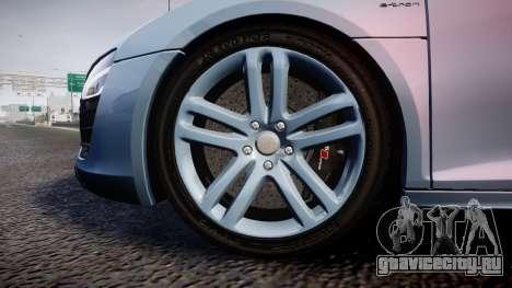 Audi R8 E-Tron 2014 dual tone для GTA 4 вид сзади