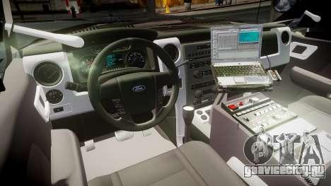 Ford Explorer 2008 LCPD [ELS] для GTA 4 вид сзади