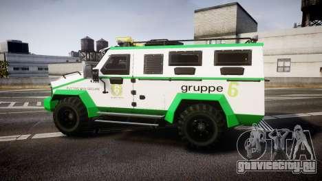 Gruppe6 Van [ELS] для GTA 4 вид слева