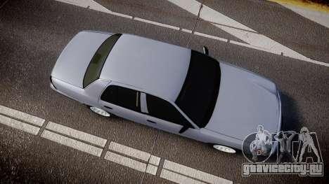 Ford Crown Victoria Unmarked Police [ELS] для GTA 4 вид справа