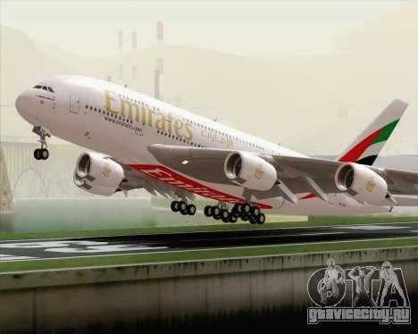 Airbus A380-800 Emirates (A6-EDH) для GTA San Andreas вид сбоку