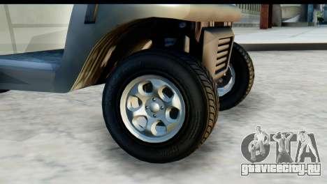 GTA 5 Caddy v2 для GTA San Andreas вид сзади слева