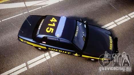 Ford Crown Victoria Sheriff [ELS] black для GTA 4 вид справа