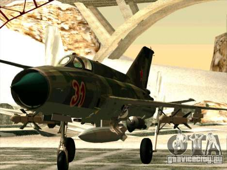 Миг 21 ВВС СССР для GTA San Andreas вид слева