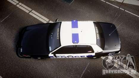 Ford Crown Victoria Police Algonquin [ELS] для GTA 4 вид справа