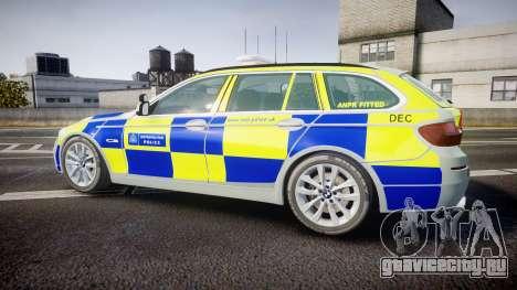 BMW 525d F11 2014 Metropolitan Police [ELS] для GTA 4 вид слева