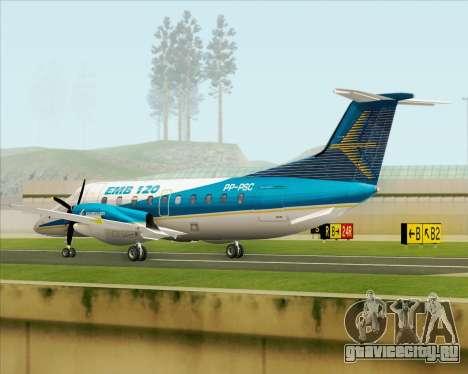 Embraer EMB 120 Brasilia Embraer Livery для GTA San Andreas вид справа