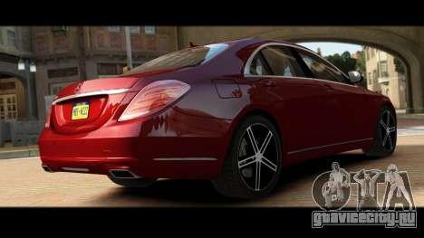 Mercedes-Benz S500 W222 для GTA 4 вид сзади