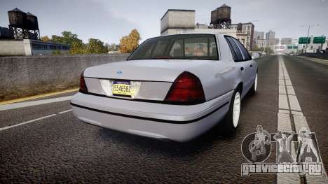 Ford Crown Victoria Unmarked Police [ELS] для GTA 4 вид сзади слева