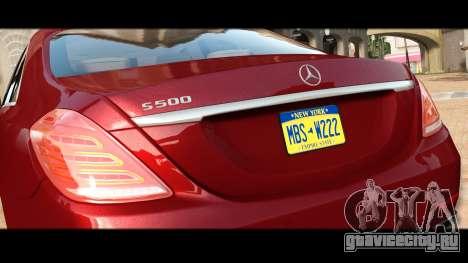 Mercedes-Benz S500 W222 для GTA 4 вид сбоку