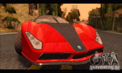 Grotti Cheetah v3 (GTA V) для GTA San Andreas вид слева