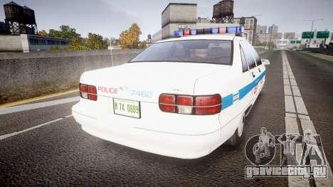 Chevrolet Caprice Liberty Police [ELS] для GTA 4 вид сзади слева