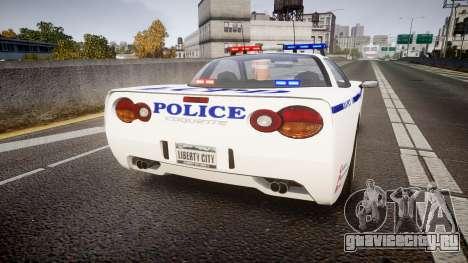 Invetero Coquette Police Interceptor [ELS] для GTA 4 вид сзади слева