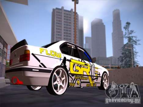 BMW M5 E34 Grip Runners Team для GTA San Andreas вид справа