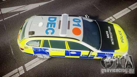 BMW 525d F11 2014 Metropolitan Police [ELS] для GTA 4 вид справа