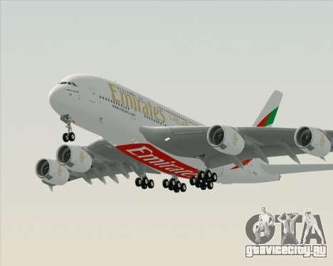 Airbus A380-800 Emirates (A6-EDH) для GTA San Andreas вид слева