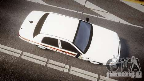 Ford Crown Victoria Sheriff [ELS] rims2 для GTA 4 вид справа