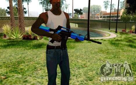 M4 Blue для GTA San Andreas второй скриншот