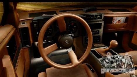 Pontiac Fiero GT G97 1985 IVF для GTA San Andreas вид сзади
