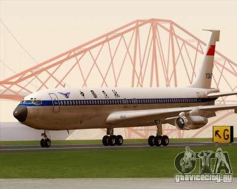 Boeing 707-300 CAAC для GTA San Andreas вид слева