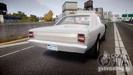 Dodge Dart HEMI Super Stock 1968 rims1 для GTA 4 вид сзади слева