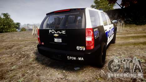 Chevrolet Tahoe 2010 Police Algonquin [ELS] для GTA 4 вид сзади слева