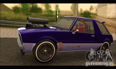 Declasse Rhapsody v2 (Fixed Extra) (GTA V) для GTA San Andreas вид сзади слева