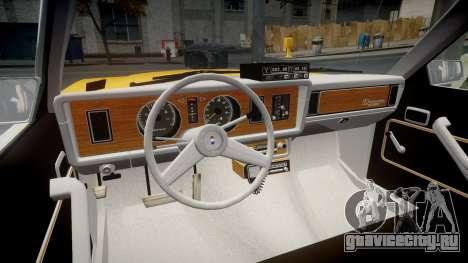Ford Fairmont 1978 Taxi v1.1 для GTA 4 вид сзади