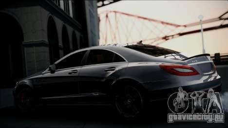 Mercedes-Benz CLS 63 AMG для GTA San Andreas вид сзади слева