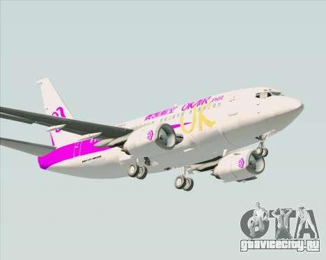 Boeing 737-500 Okay Airways для GTA San Andreas вид сзади