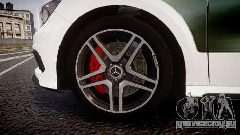 Mersedes-Benz A45 AMG PJs3 для GTA 4 вид сзади