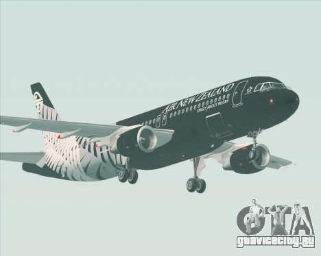 Airbus A320-200 Air New Zealand для GTA San Andreas вид сзади
