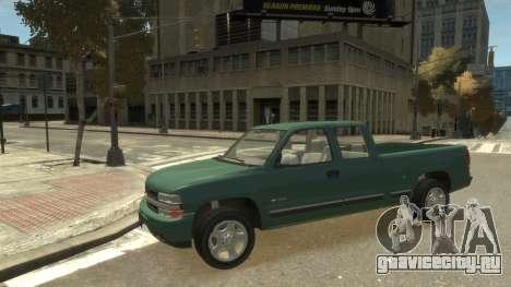 Chevrolet Silverado 1500 для GTA 4 вид сзади