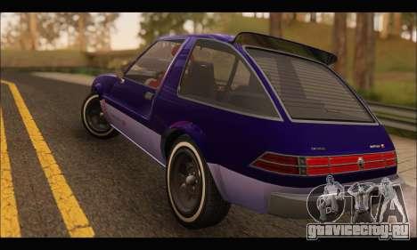 Declasse Rhapsody v2 (Fixed Extra) (GTA V) для GTA San Andreas вид справа