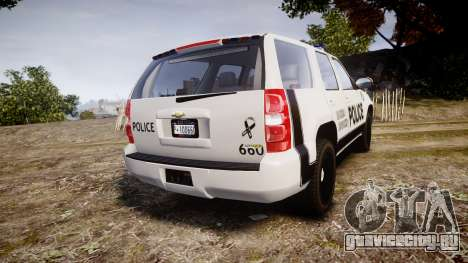 Chevrolet Tahoe 2010 Sheriff Dukes [ELS] для GTA 4 вид сзади слева